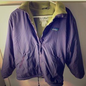 LL Bean Women's 3 Season jacket Purple/Green Sz M